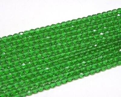 Cristalli ovali 4 mm Verde