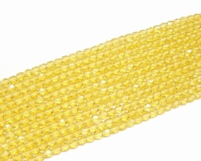 Mezzi cristalli 4 mm Ambra