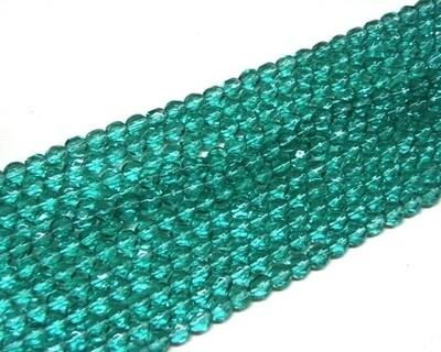Cristalli ovali 4 mm Verde Marino