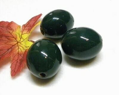 Perla Oliva in ceramica Verde scuro