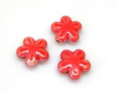Fiore ceramica Rosso 18 mm
