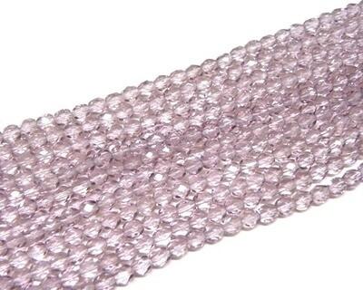 Cristalli ovali 6 mm Ametista chiaro