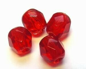 Cristalli ovali 6 mm Rosso