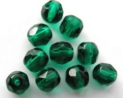 Cristalli ovali 6 mm Verde Marino medio
