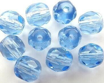 Cristalli ovali 6 mm Bluino Chiaro