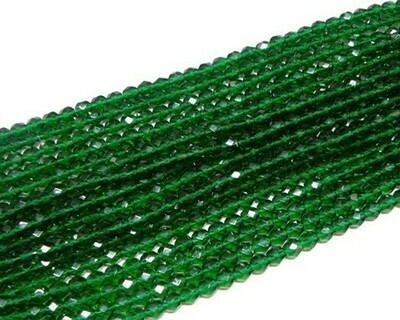 Cristalli ovali 6 mm verde smeraldo