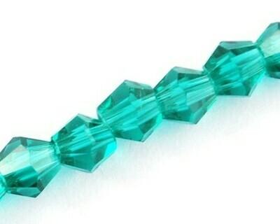 Cristalli bicono Verde laguna 4-6 mm