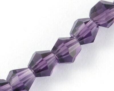 Cristalli bicono Inchiostro 4-6 mm