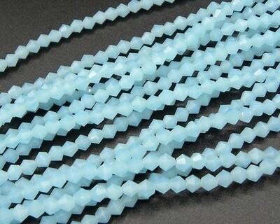 Cristalli bicono 4 mm Azzurro opale