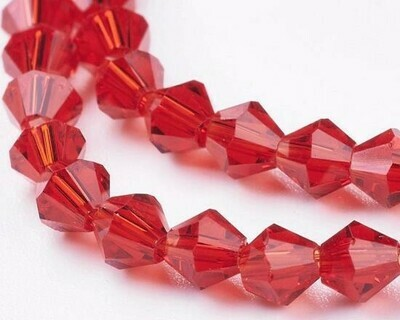 Cristalli bicono Rosso 4-6 mm