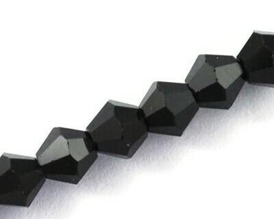 Cristalli bicono Nero 4-6 mm