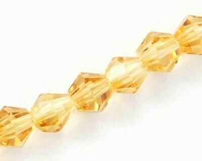 Cristalli bicono Ambra 4-6 mm