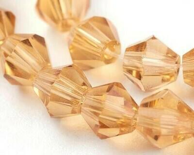 Cristalli bicono Rosa salmone 4-6 mm