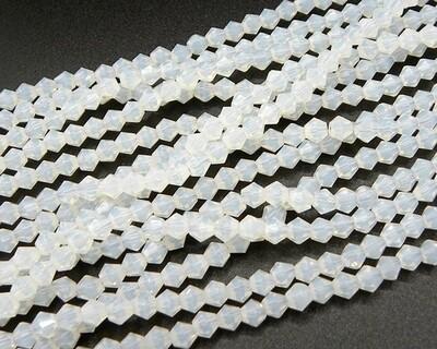 Cristalli bicono 4 mm Bianco opale