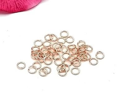 Anellini Acciaio 5 mm Oro Rosa
