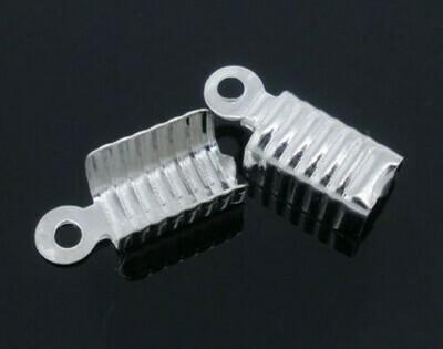 Ferma corda 13x5 mm Silver