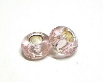 Perle in Vetro argentato Rosa