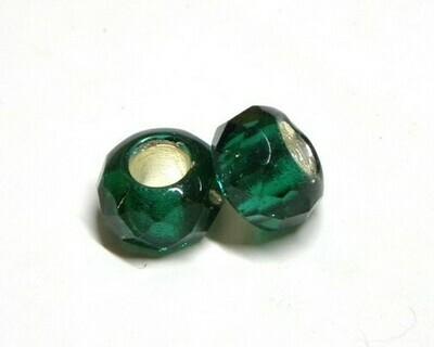 Perle in Vetro argentato Verde