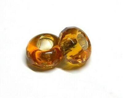 Perle in Vetro argentato Miele