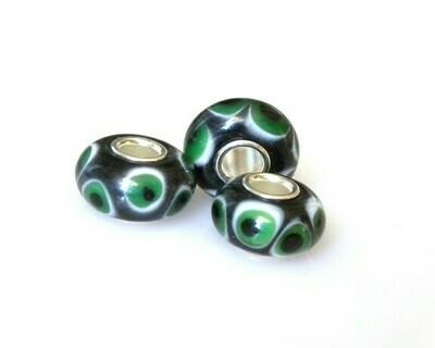 Perle foro largo Nero Verde