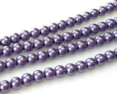 Filo di Perle in vetro Viola 8 mm
