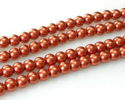Filo di Perle Arancio Rame 8 mm