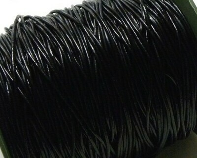 Cordone di Pelle 1,5 mm Nero 2 mt