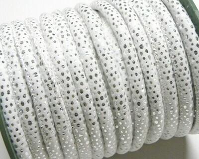 Tubolare Cotone Bianco Argento 1 mt