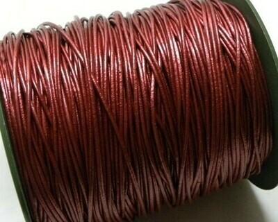 Cordone di Pelle 1,5mm Rosso Metal 2 mt