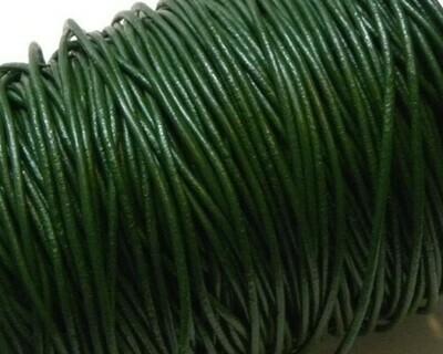 Cordone di Cuoio 1,5 mm Verde 2 mt