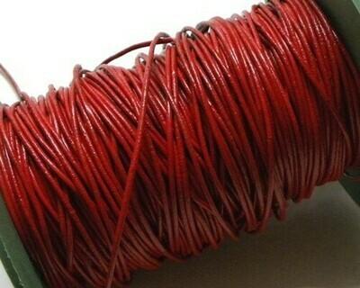Cordone di Pelle 1,5mm Rosso 2 mt