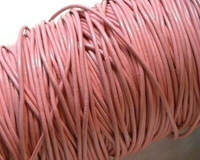 Cordone di cuoio Rosa 1,5 mm 2 mt