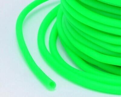 Caucciù tubolare forato 3 mm  Verde 2 Mt