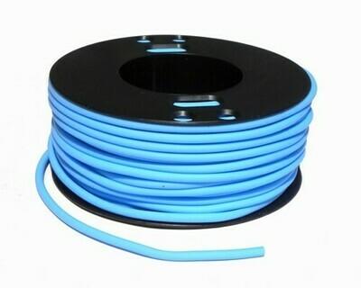 Caucciù tubolare forato  Azzurro 4 mm