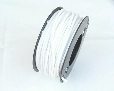 Caucciù tubolare forato Bianco 4 mm