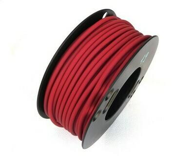Caucciù tubolare forato Rosso scuro 4 mm