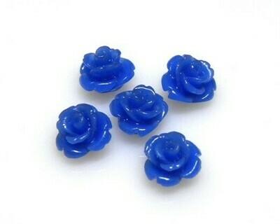 Rose di resina Blu elettrico 10x8 mm