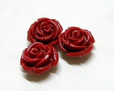 Rose di resina Rosso 16,5x11,5 mm