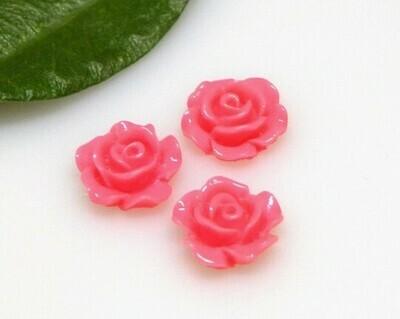 Rosa piatta Rosa corallo 10x4,5 mm