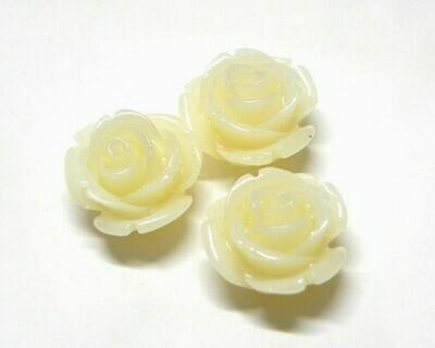 Rose di resina Avorio 14mm