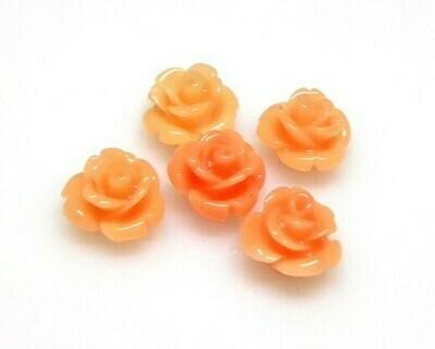 Rose di resina Corallo 10x8 mm
