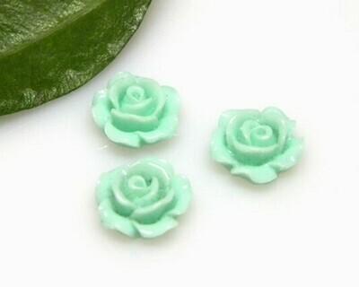 Rosa piatta Verde chiaro 10x4,5 mm