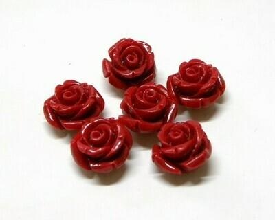 Rose di resina Rosso 8x9 mm