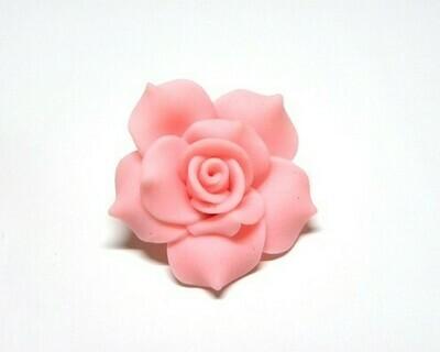 Fiore fimo rosa 2 pz