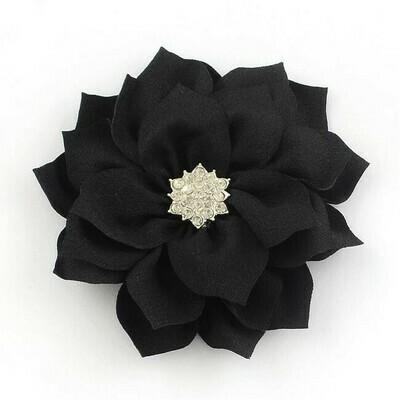 Fiore Nero con strass