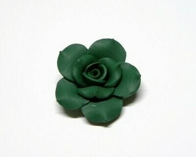Fiore fimo verde 2 pz