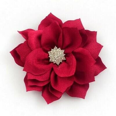 Fiore Rosso con strass
