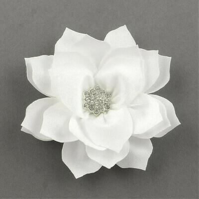 Fiore Bianco con strass