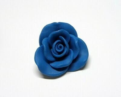 Fiore fimo blu