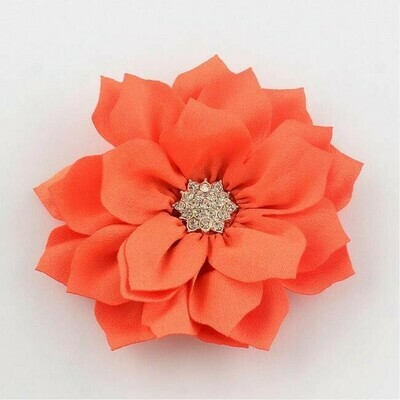 Fiore Arancio con strass